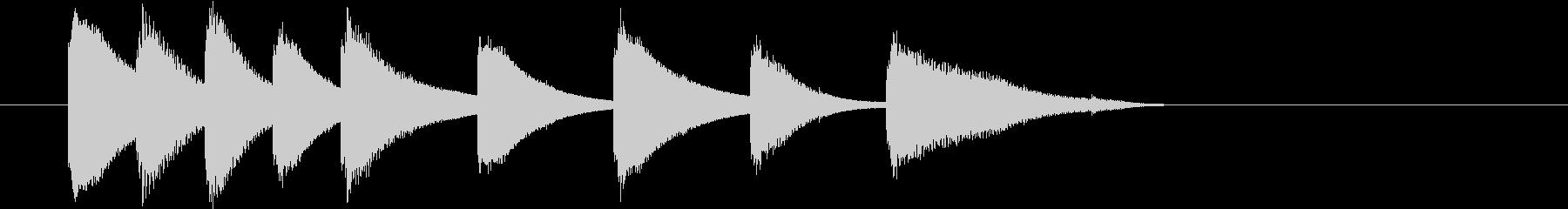 鉄琴のほのぼのとした短めのジングルの未再生の波形