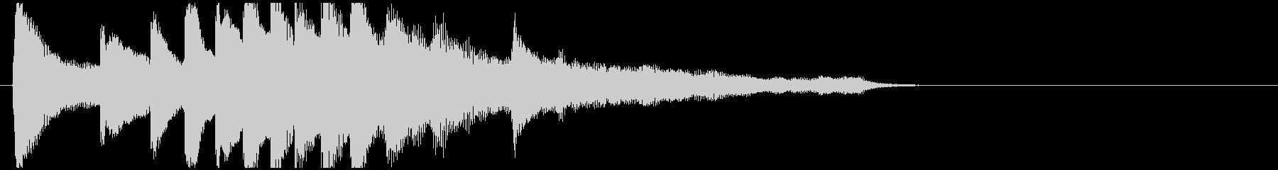 透明感のあるサウンドロゴ ピアノソロ 1の未再生の波形