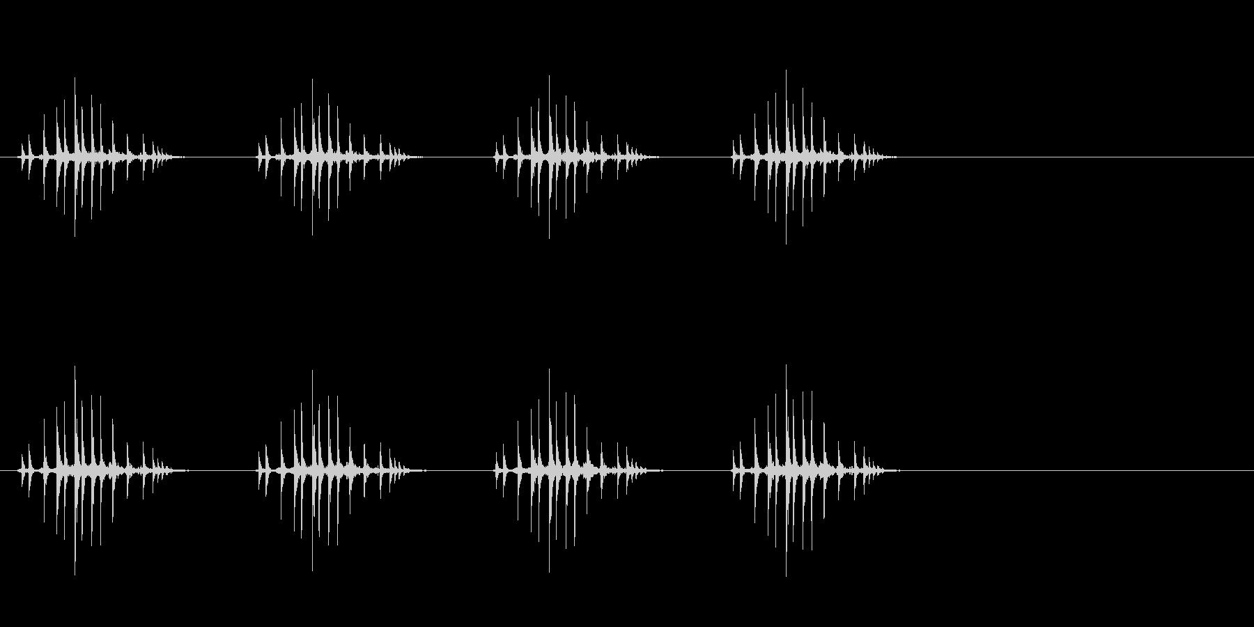 ギリギリギリギリ(リールを巻く、遅め)の未再生の波形