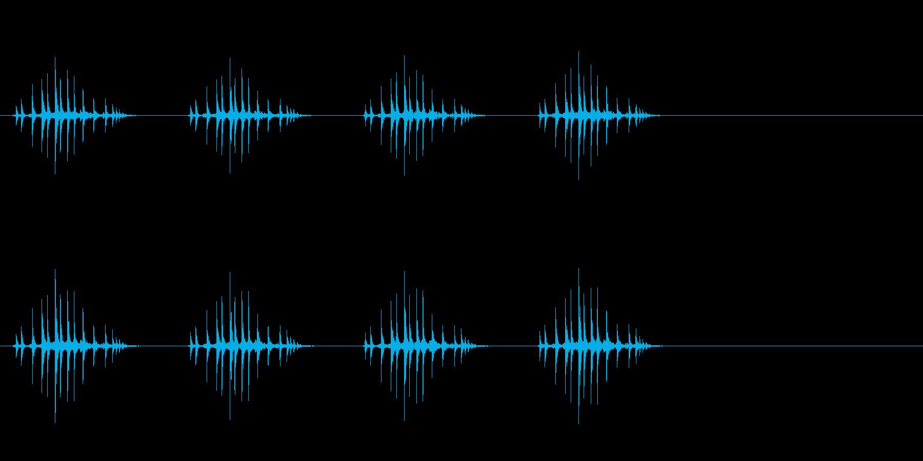 ギリギリギリギリ(リールを巻く、遅め)の再生済みの波形