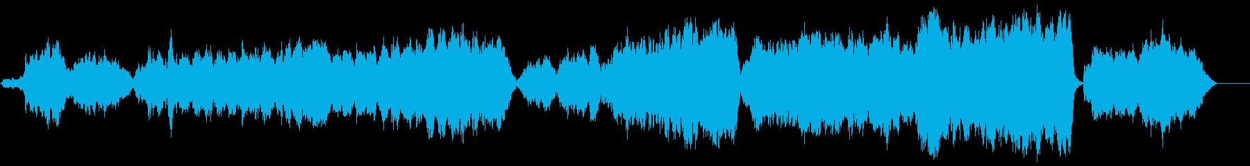 感動的に盛り上がるフルオーケストラ楽曲の再生済みの波形