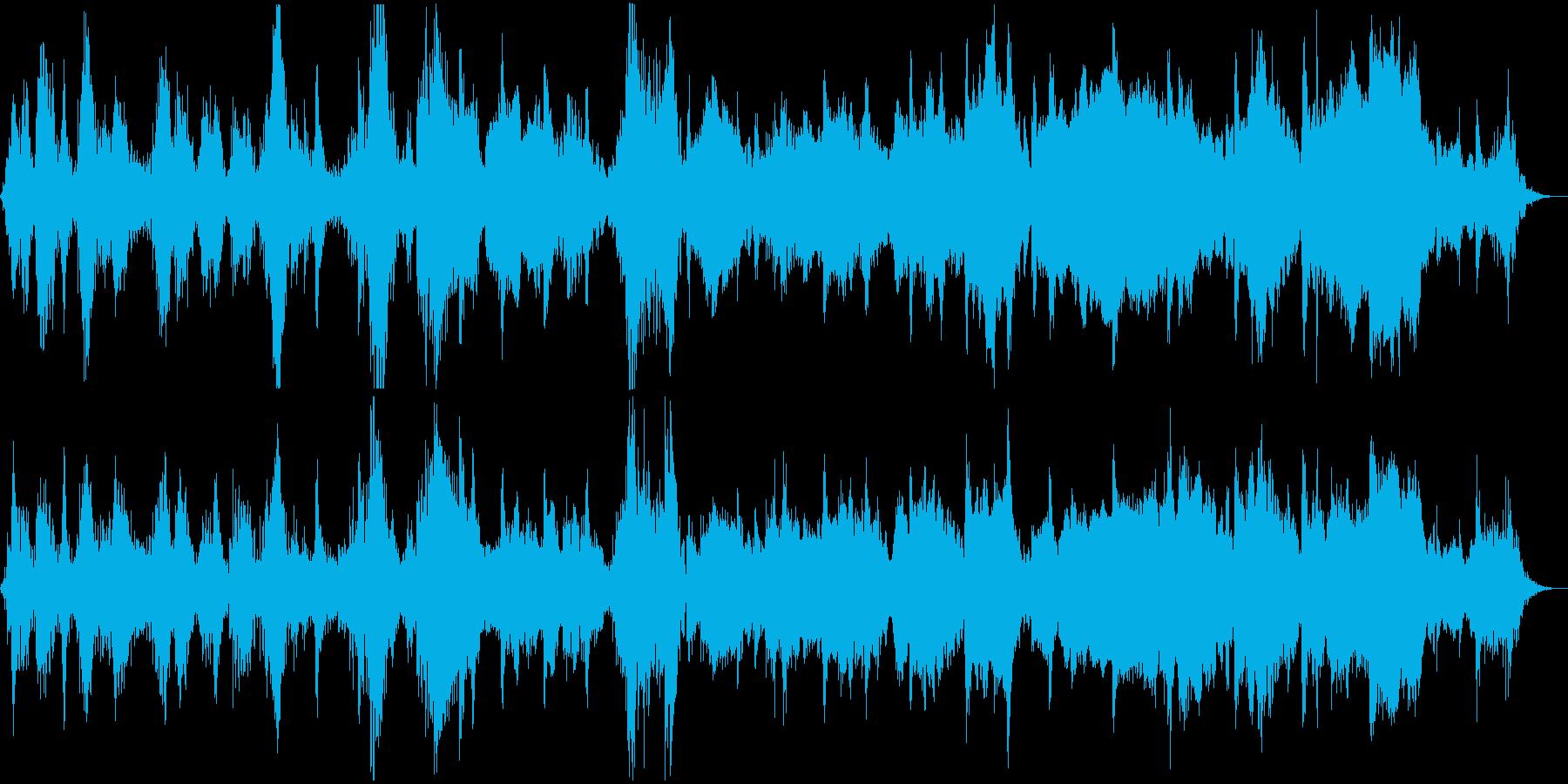 和風で不気味なホラーBGMの再生済みの波形