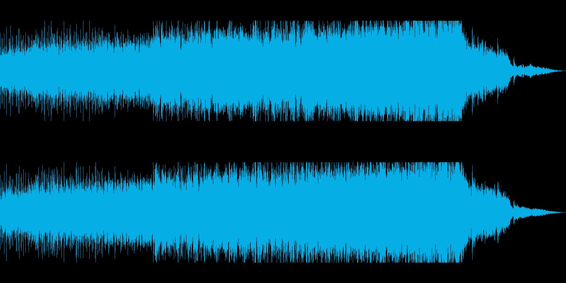 宇宙や近未来感のピアノシンセサウンドの再生済みの波形