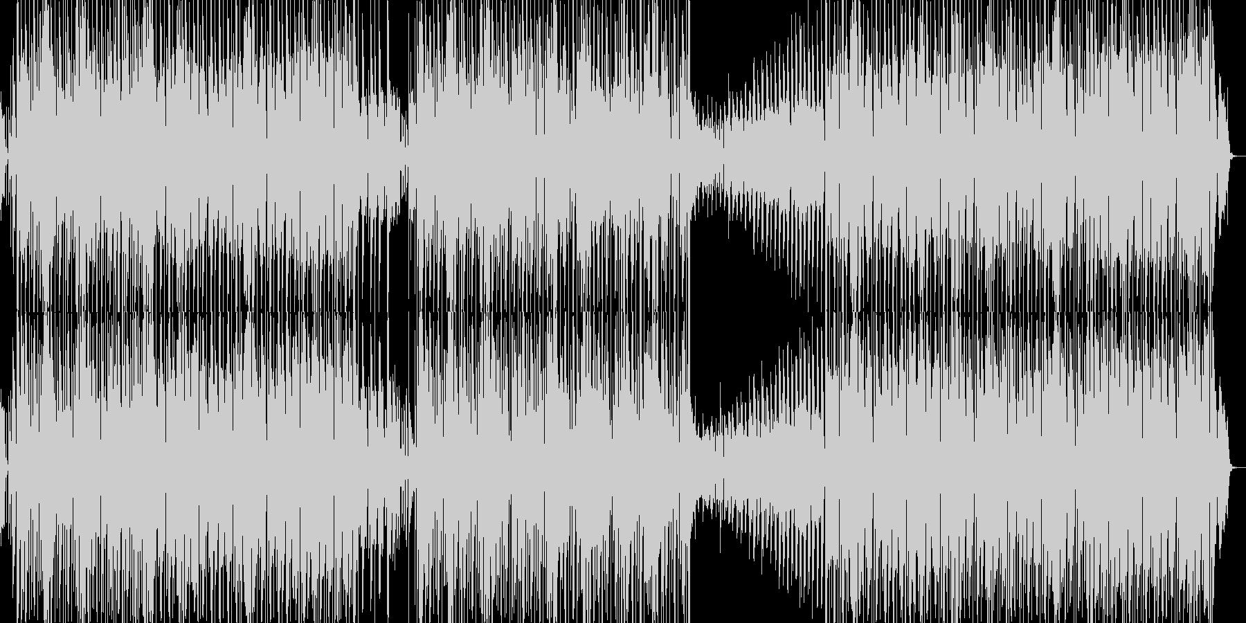 モダンなダンスミュージックサウンドの未再生の波形