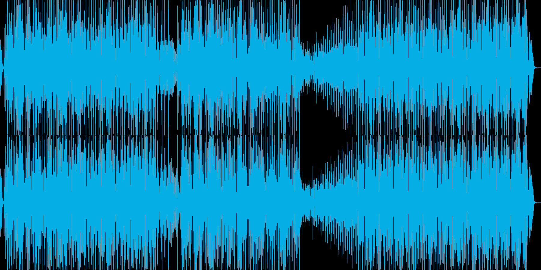 モダンなダンスミュージックサウンドの再生済みの波形