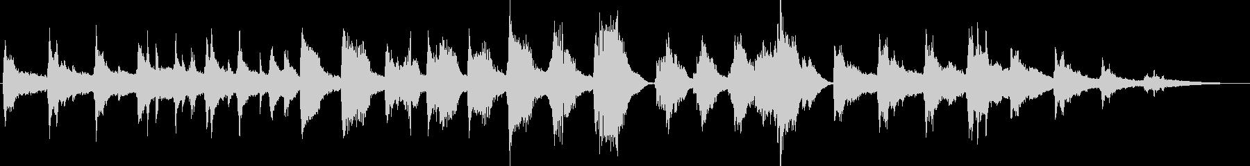 雪の妖精をイメージした現代曲風BGMの未再生の波形