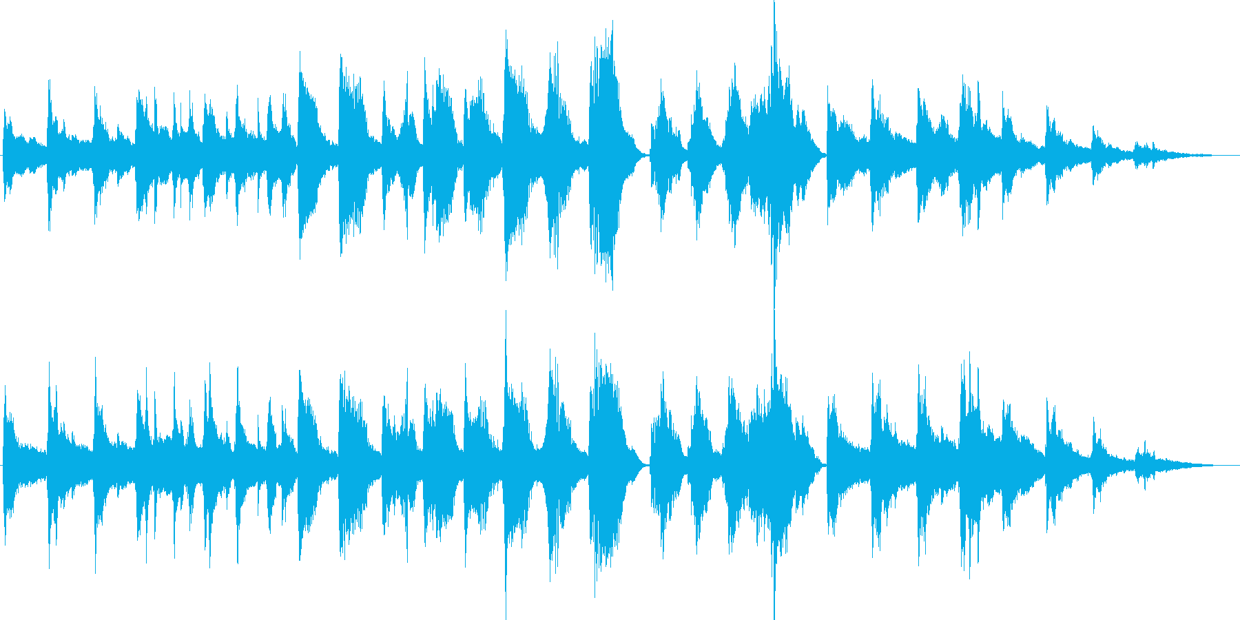 雪の妖精をイメージした現代曲風BGMの再生済みの波形