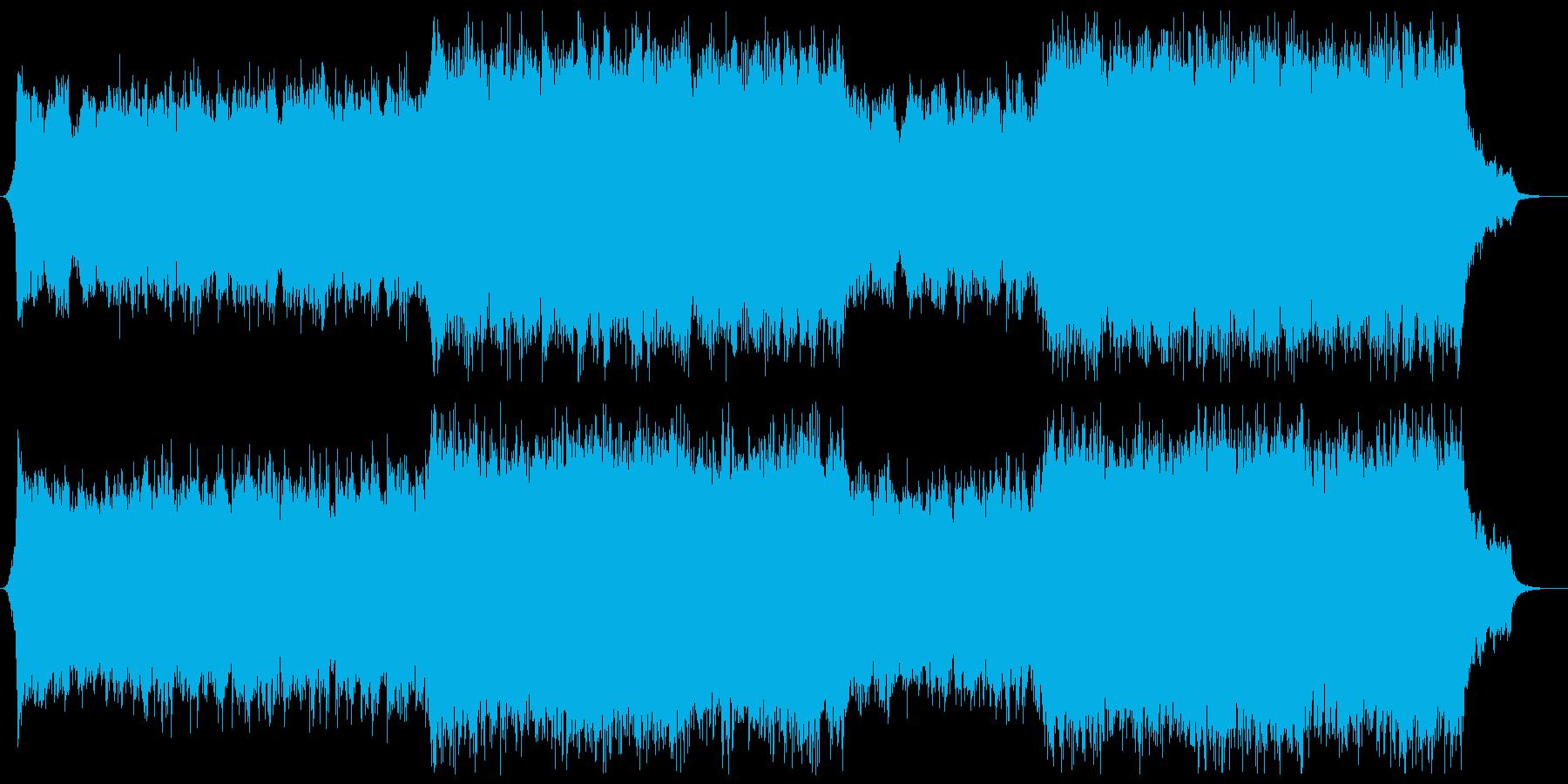 力強く鼓舞する壮大なシネマティックBGMの再生済みの波形