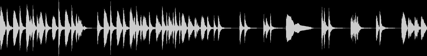 音数少なめ、可愛いアコースティックBGMの未再生の波形