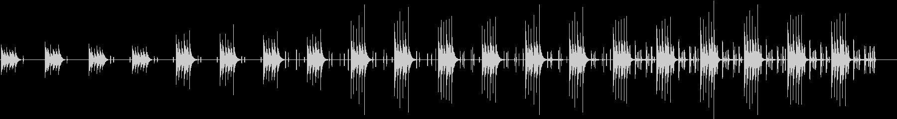 短いフレーズが繰り返される無機質な曲の未再生の波形