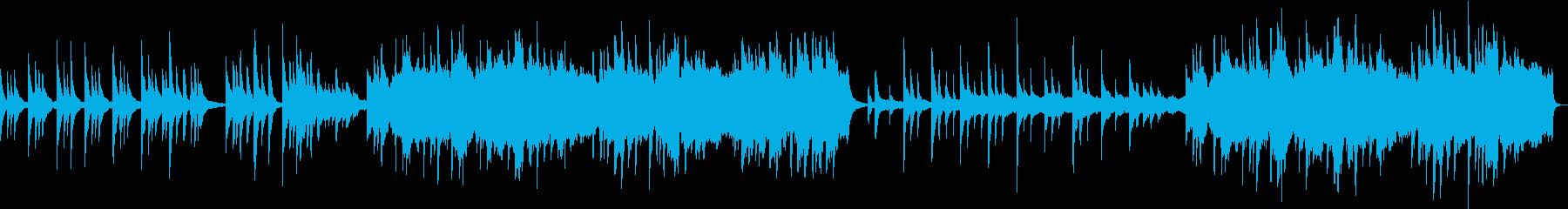 悲壮感が必要なシーン向けピアノ+弦の曲の再生済みの波形