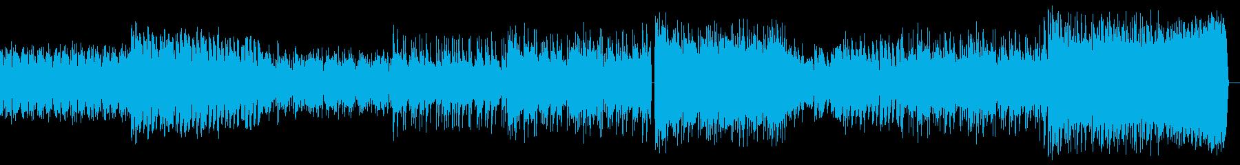 機械、デジタルなイメージのバトルBGMの再生済みの波形