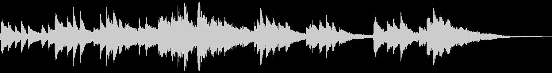 和風のジングル2-ピアノソロ(高音強調)の未再生の波形