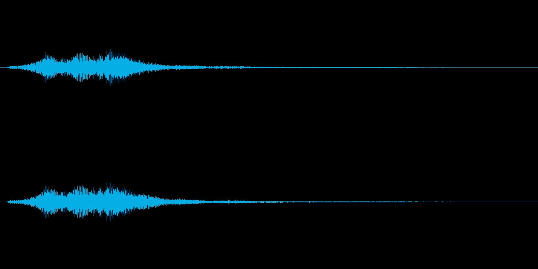 ハープグリッサンド上行3回~Cの再生済みの波形