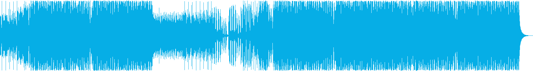 [EDM]ポップなクラブ系ハウス音楽の再生済みの波形