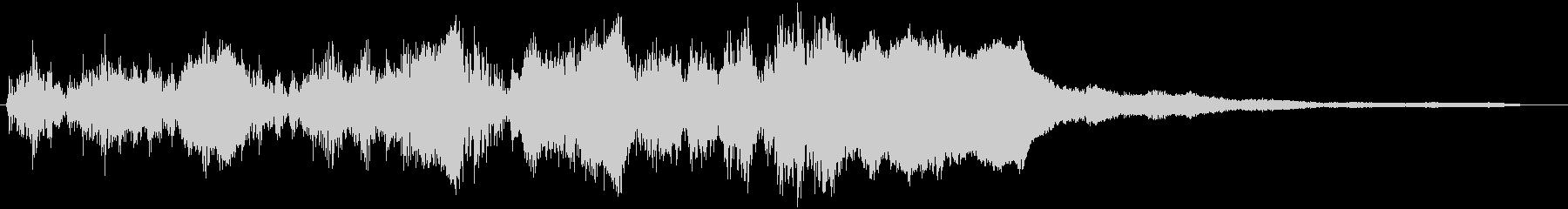 ドラムロールとファンファーレが一緒のSEの未再生の波形