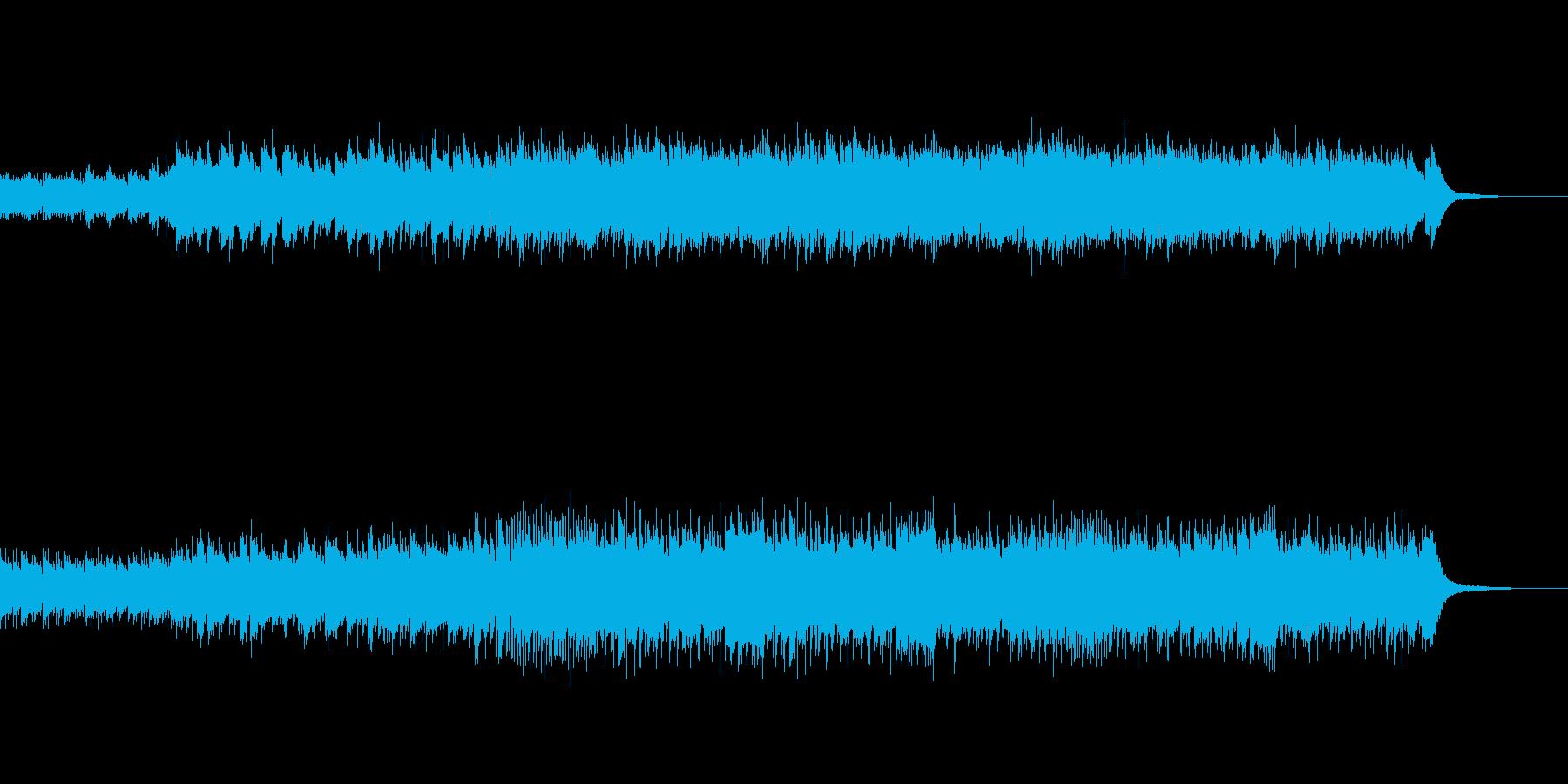 ピアノと手拍子の爽やかな曲の再生済みの波形
