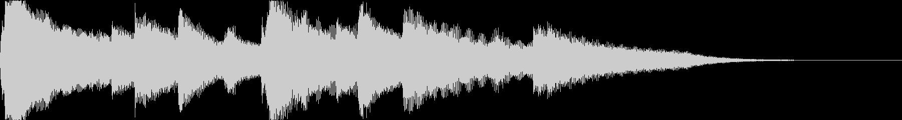 クラシカルな可愛いジングル_メロディなしの未再生の波形