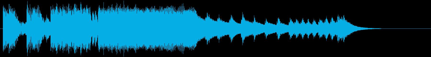 和楽器を取り入れたヘヴィメタルのジングルの再生済みの波形