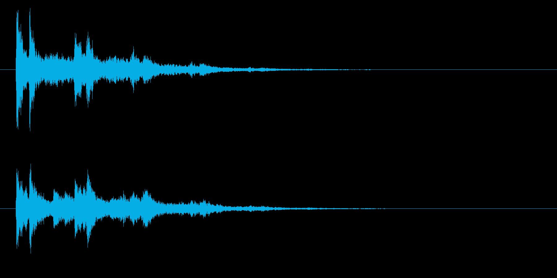 ベル系☆パソコン起動音風ジングル 5の再生済みの波形