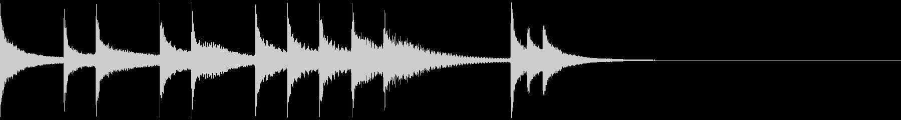 ほのぼのとしたジングル:3の未再生の波形