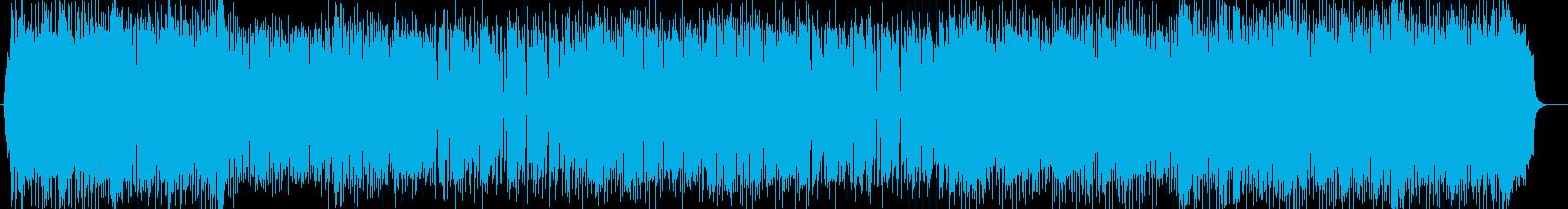 勢いのあるシンセなどサウンドの再生済みの波形