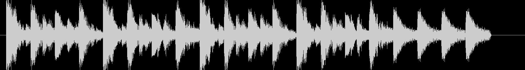 ジャジーでおしゃれなアイキャッチジングルの未再生の波形