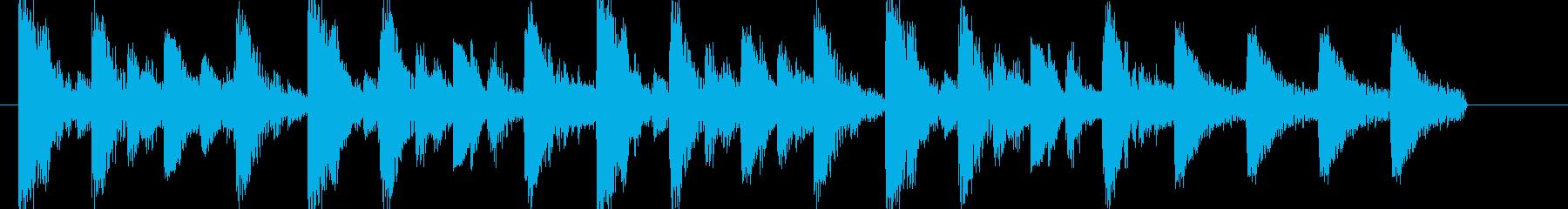 ジャジーでおしゃれなアイキャッチジングルの再生済みの波形