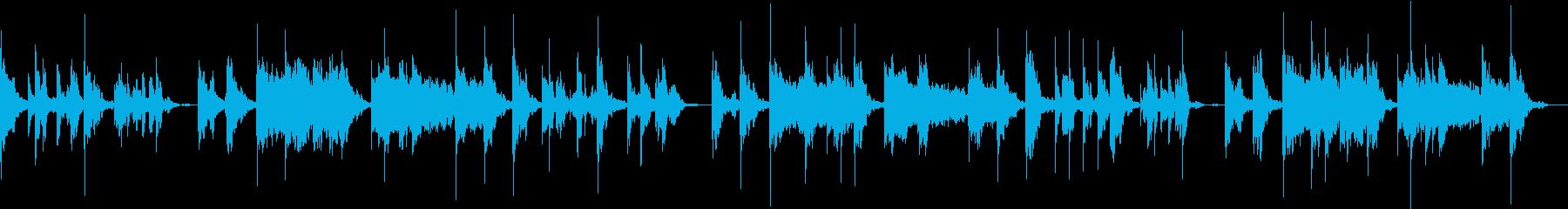 安心感で包み込む赤ちゃん用の音楽の再生済みの波形