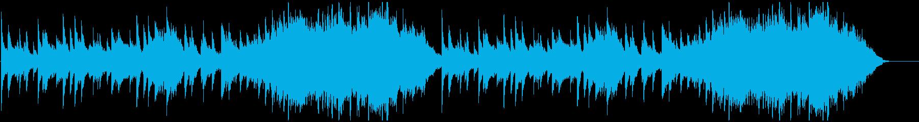 しっとり切ないピアノ、ストリングスBGMの再生済みの波形