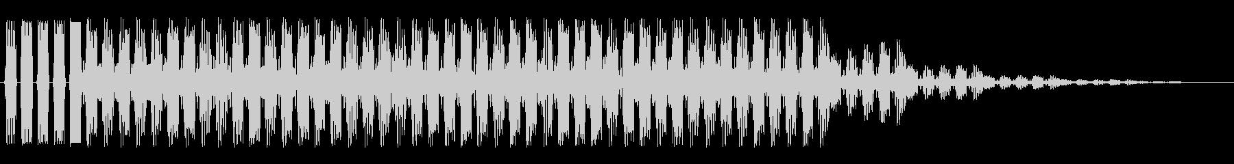 キュロロロ(データ読込・転送のイメージ)の未再生の波形