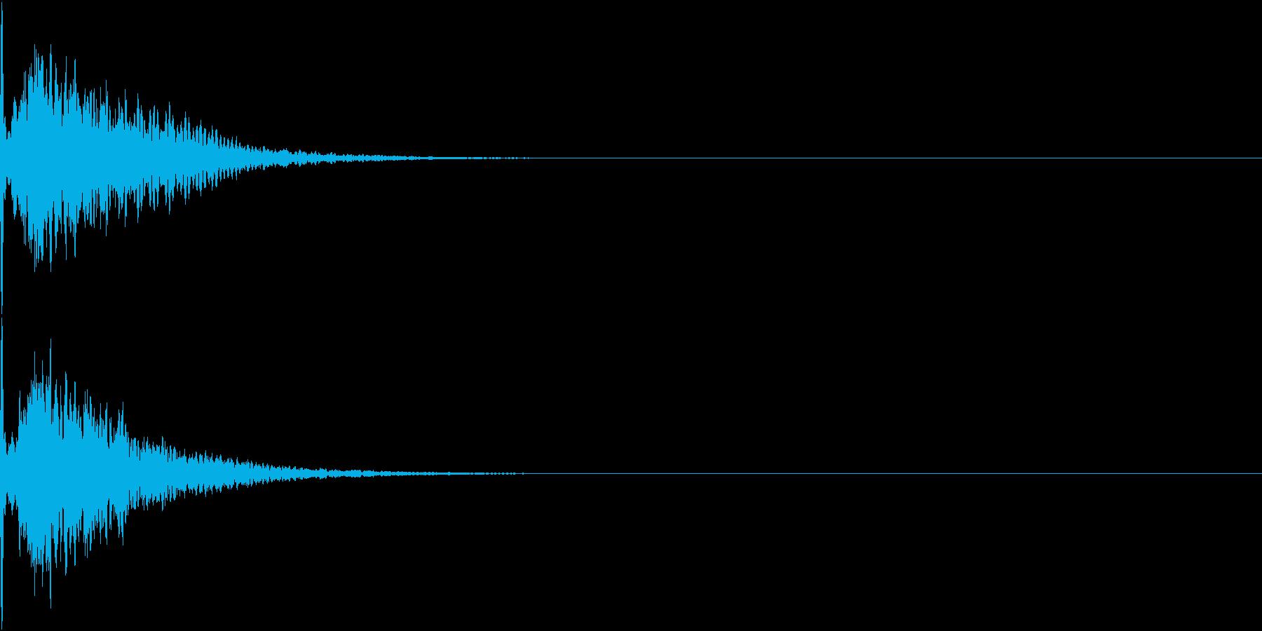 キュイン 光 ピカーン フラッシュ 05の再生済みの波形