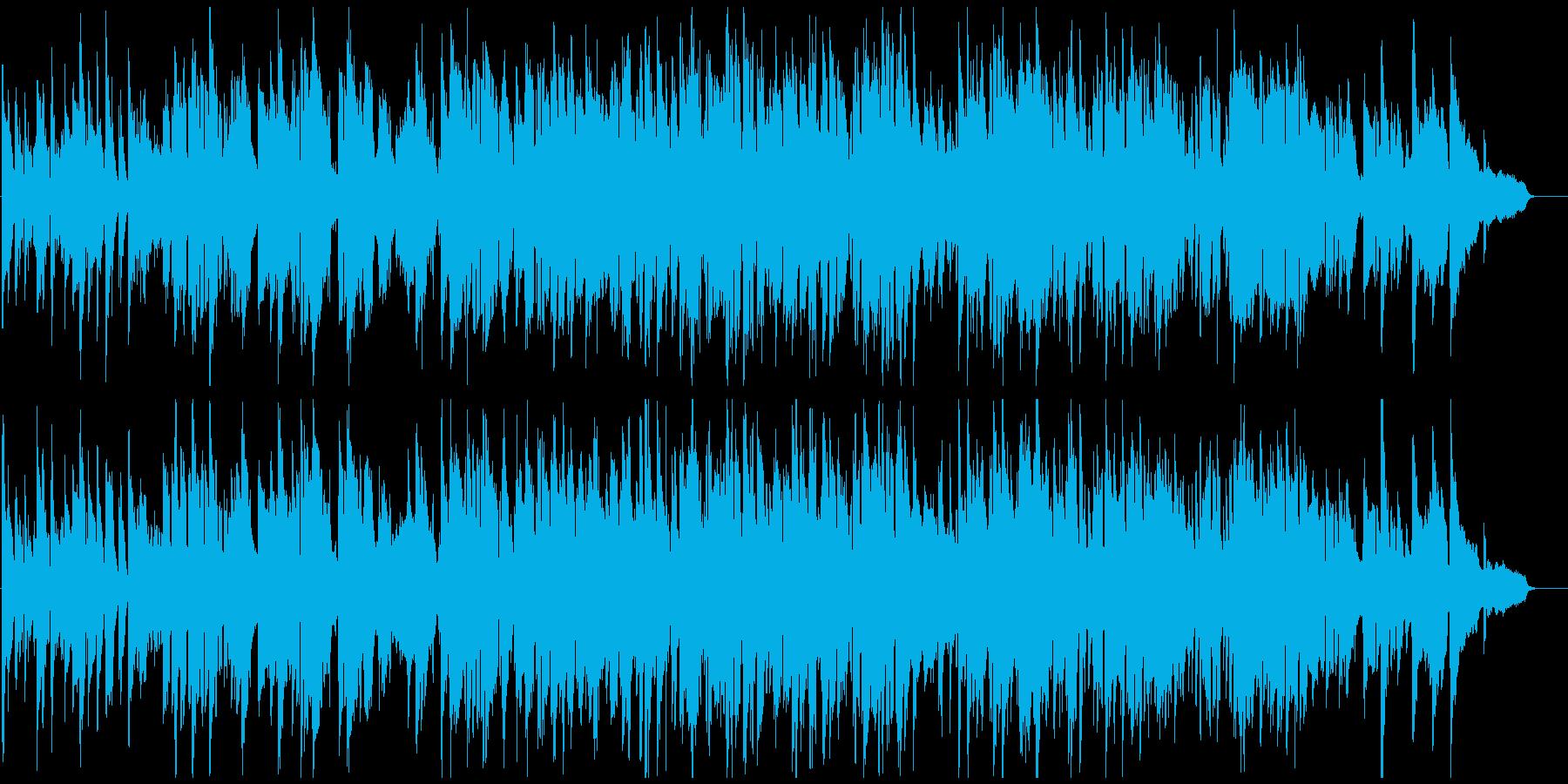 静かに嬉しい雰囲気のスローテンポなジャズの再生済みの波形