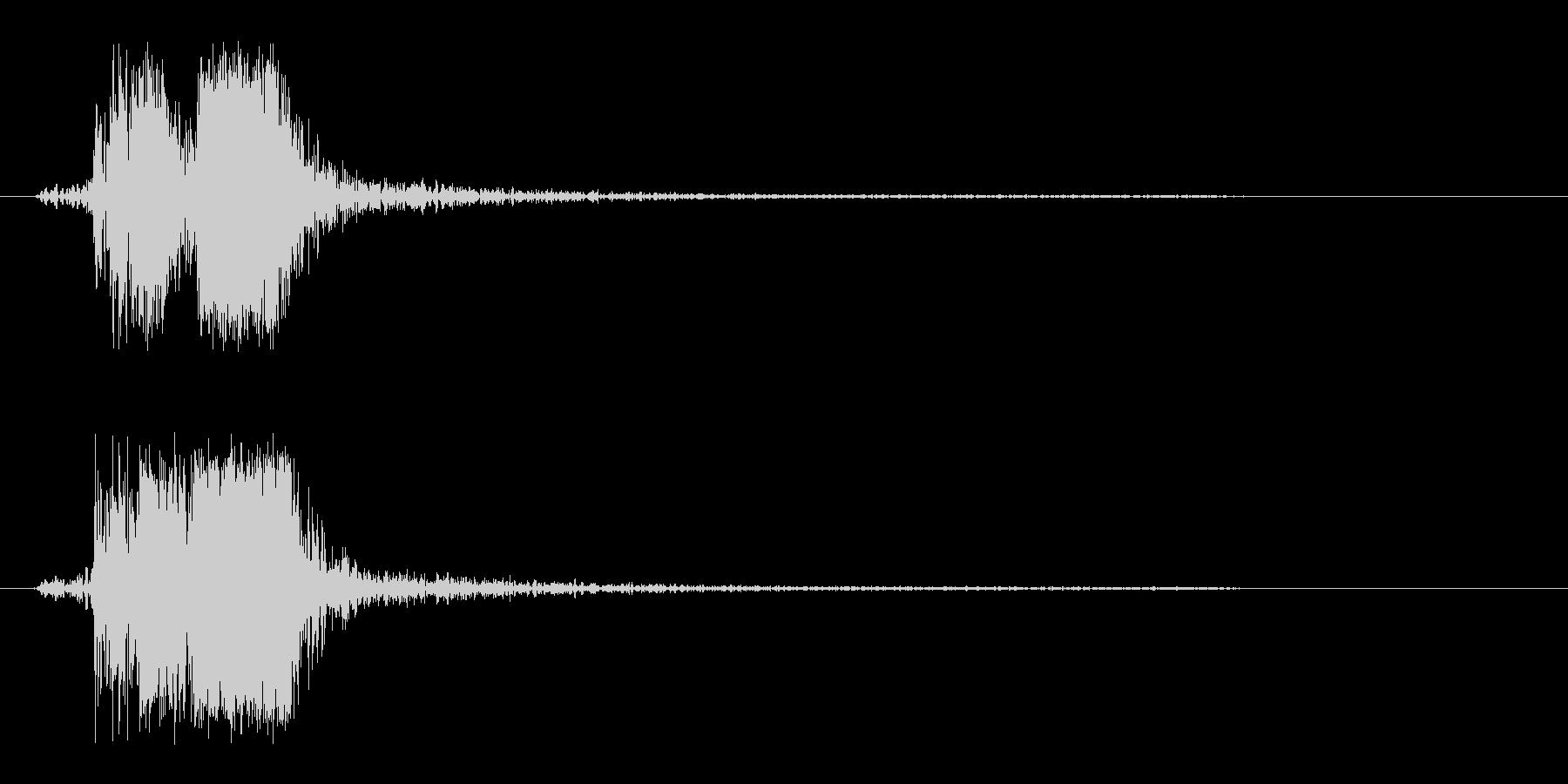 シュンという俊敏なスピード音の未再生の波形