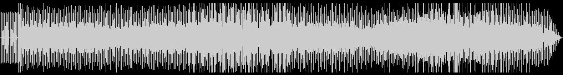 シンプルな4つ打ち系バックミュージックの未再生の波形