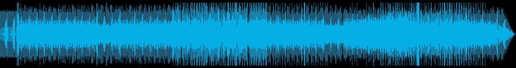 シンプルな4つ打ち系バックミュージックの再生済みの波形