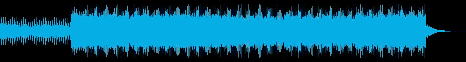 ニュース・報道番組風BGMの再生済みの波形