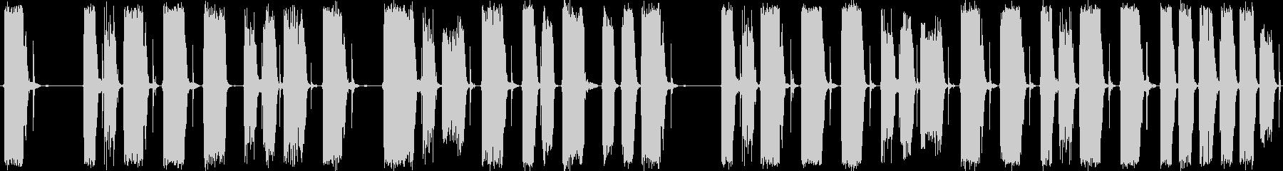 ハードなドラムを基本にした楽曲です。の未再生の波形
