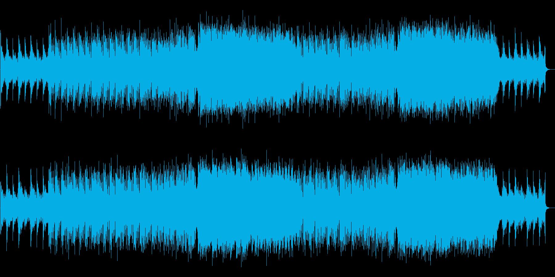 青い海のような神秘的で美しいバイオリンの再生済みの波形