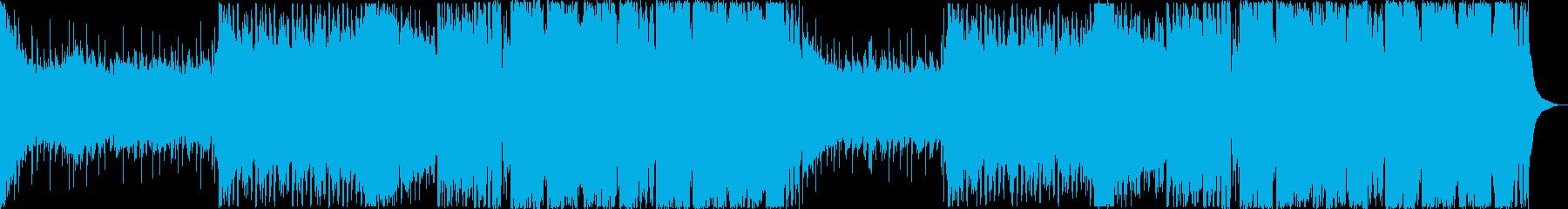 スピード感のあるキャッチーなEDMの再生済みの波形