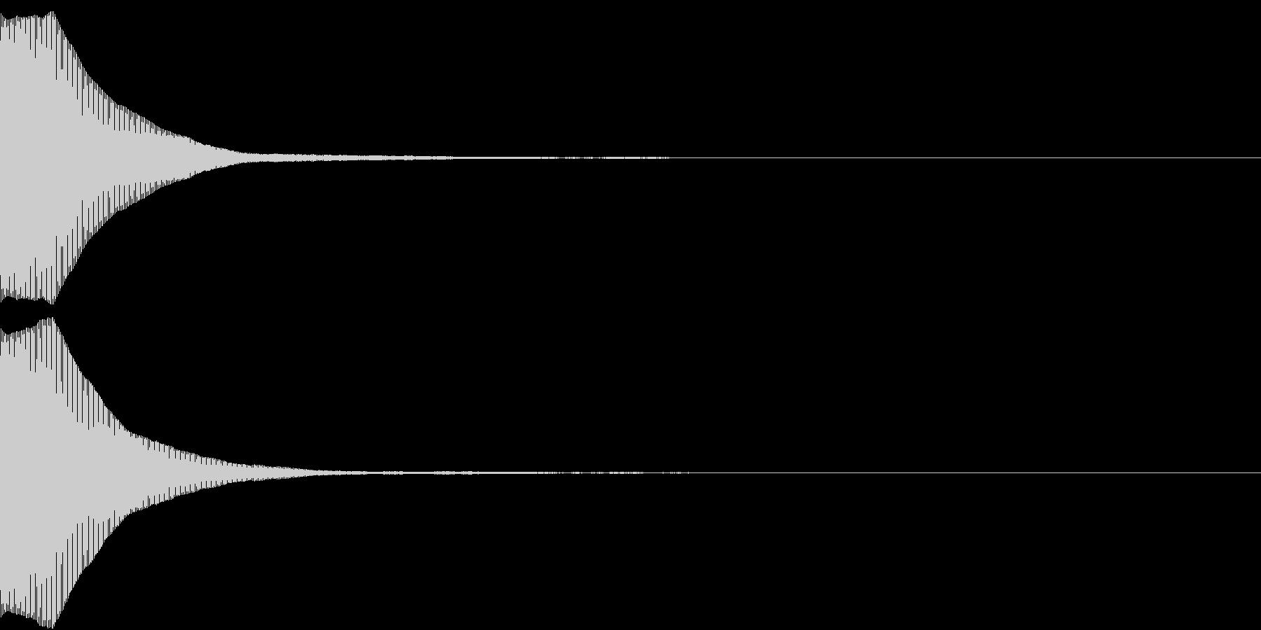 ポーン(何かを表示するときなどに)の未再生の波形