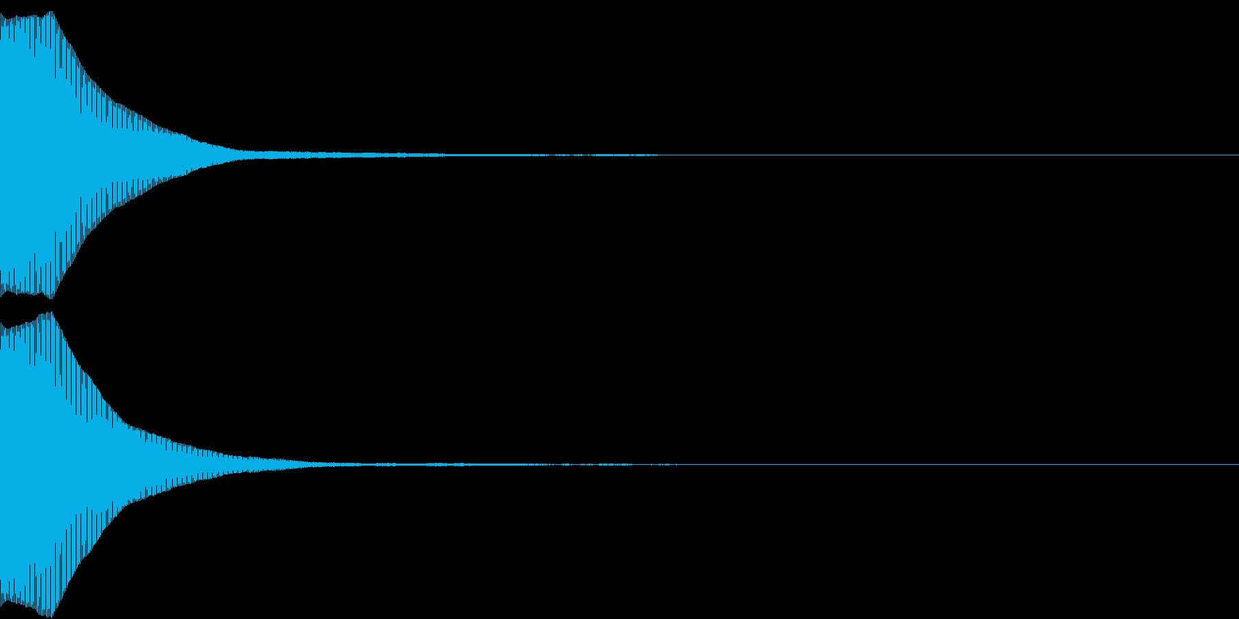 ポーン(何かを表示するときなどに)の再生済みの波形