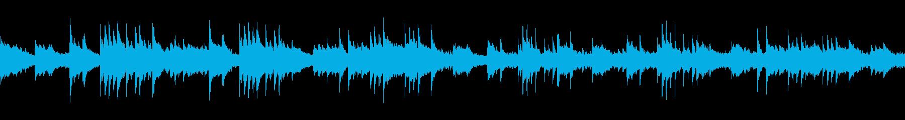 ゆったりとした幻想的なピアノバラードの再生済みの波形