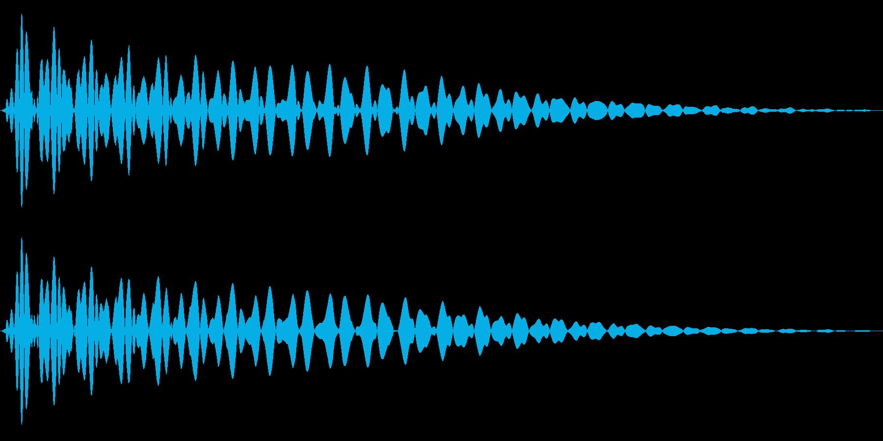 PureTouch アプリ用タッチ音68の再生済みの波形