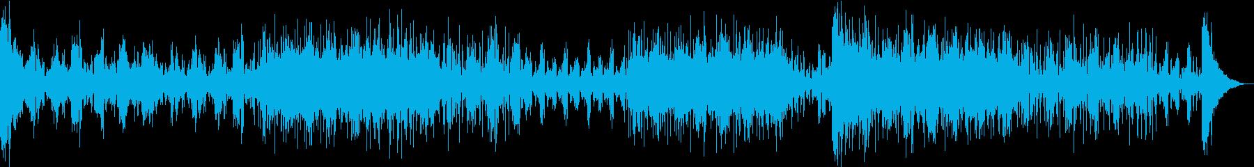 ひんやりした雰囲気のテクノBGMの再生済みの波形