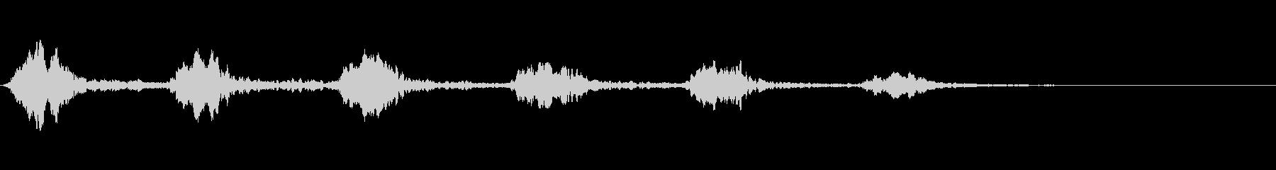 カァカァカァ カラスの鳴き声の未再生の波形