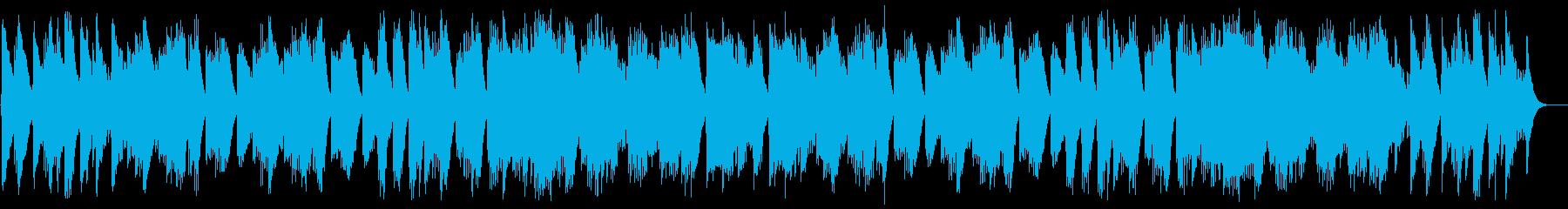 優しいオルゴールのスウィートな曲の再生済みの波形