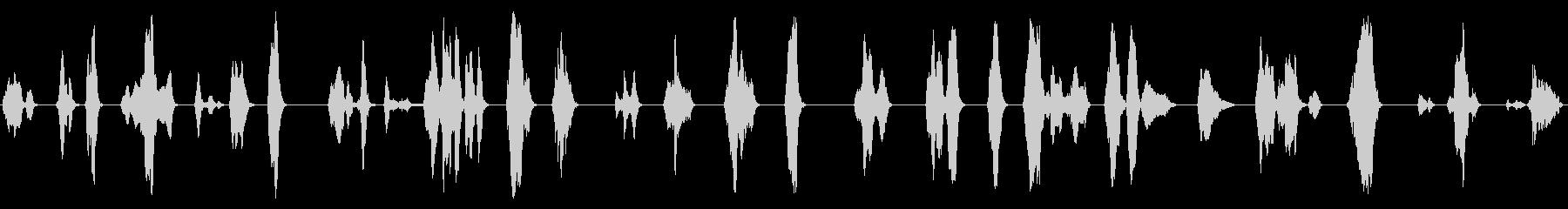男性:男性だけの人間の声;叫び声と叫び声の未再生の波形