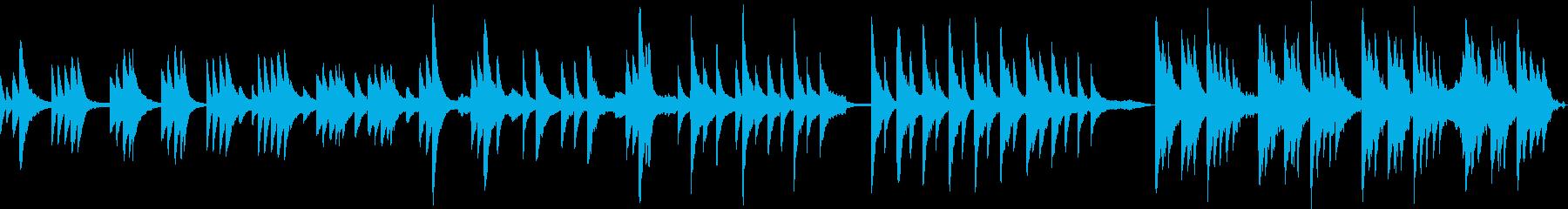 ピアノの旋律をメインにしたバラードの再生済みの波形