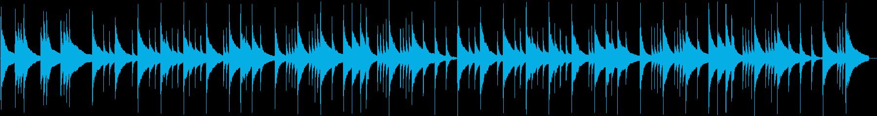 静かで切ないラブソンバラードの再生済みの波形